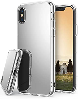 newest 64d93 f9a5f Ringke [Mirror] Case Compatible with iPhone X, Bright Reflection Radiant  Luxury Mirror Bumper [Qi Wireless Charging Compatible] Stylish Protective  ...
