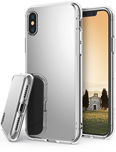 Apple iPhone X Case, iPhone 10 Case, Ringke Fusion [MIRROR] Support Wireless Charge Luxury Mirror Bumper [Shock Absorption Technology] Stylish Protective Cover for Apple iPhoneX - Silver