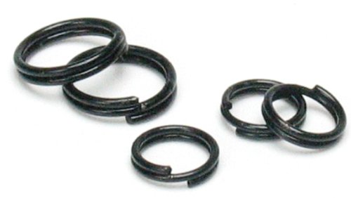Large Split Rings - Cousin Jewelry Basics 6/8mm Split Ring, Black, 300-Piece