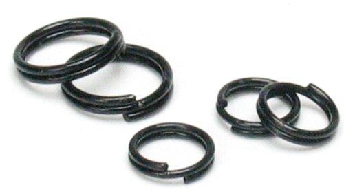 Cousin Jewelry Basics 6/8mm Split Ring, Black, -