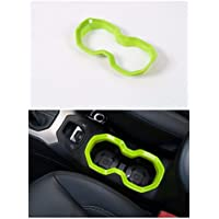 FMtoppeak Green Interior Styling Moulding ABS Water Cup Bottle Holder Frame Ring Trim Cover For Jeep Renegade 2014 UP