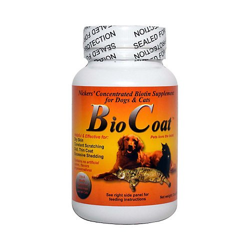 Bio-Coat Concentrated Biotin Supplement For Dogs and Cats 32 oz by Nickers (Cat International)