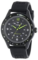 Timex Men's T2P024KW Ameritus Sport Black Dial, Black Silicone Strap Watch from Timex