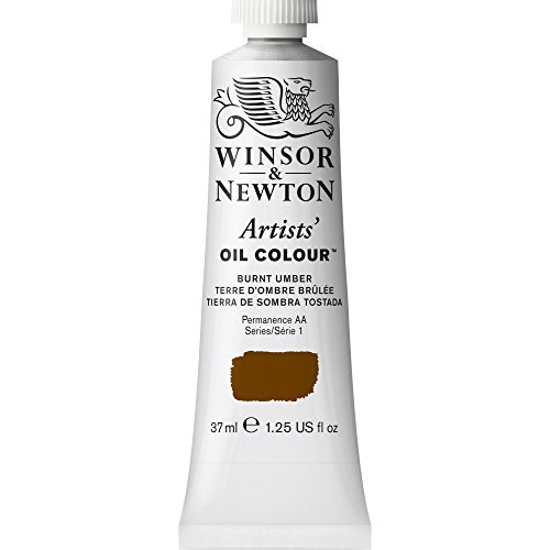Winsor & Newton Artists' Oil Colour Paint, 37ml Tube, Burnt Umber