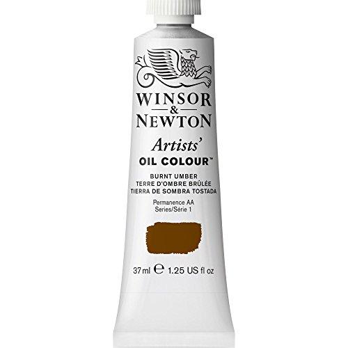 Winsor & Newton Artists' Oil Colour Paint, 37ml Tube, Burnt Umber, 37-ml