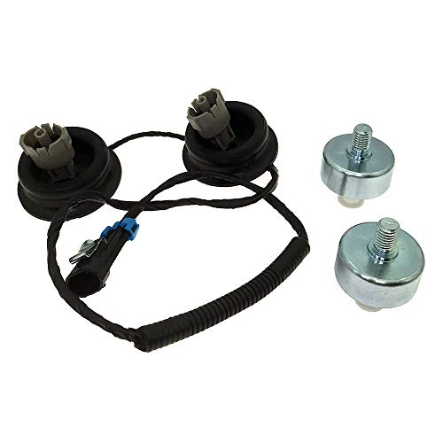 Engine Dual Knock Sensors with Wire Harness for Cadillac Escalade Chevrolet Silverado Suburban Avalanche Tahoe GMC Sierra Replace OE# 12601822 10456603