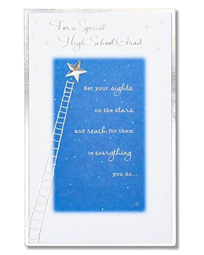 American Greetings High School Graduation Card with Glitter