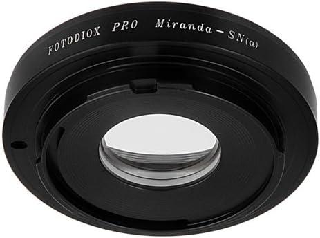 Fotodiox Pro Lens Mount Adapter for Miranda Lens to Sony Alpha DSLR Cameras
