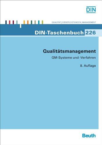 Qualitätsmanagement: QM-Systeme und -Verfahren (DIN-Taschenbuch) Taschenbuch – 1. April 2012 DIN e.V. Beuth 3410225005 Qualitätsmanagement; Normen