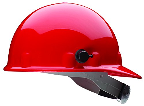 Fibre-Metal by Honeywell E2QRW15A000 Super Eight Ratchet Cap Style Hard Hat with Quick-Lok, Red