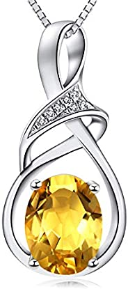HXZZ Fine Jewelry Mothers Day Gifts for Women Swiss Blue Topaz Amethyst Citrine Natural Gemstone Sterling Silv