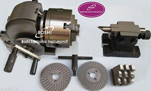 BS-0 CNC Universal Dividing Head Set for Milling Machine with 3 Jaw Chuck Center Height 100mm