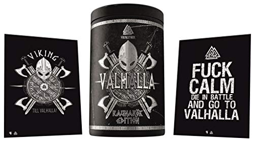 Gods Rage Valhalla Edition Pre-Workout Booster Trainingsbooster Bodybuilding – Inkl. Postkarten 400g (Odins Berries)