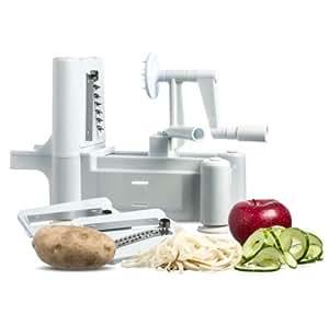 Tri-Blade Vegetable Spiral Slicer Spiralizer Veggie Cutter Spaghetti Pasta Maker
