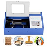 Laser Cutter-SUNCOO K40 Laser Engraver DIY Engraving Machine for Wood, Glass, Acrylic 40W CO2 with USB Port Only for Windows System 12x8'' (Blue)