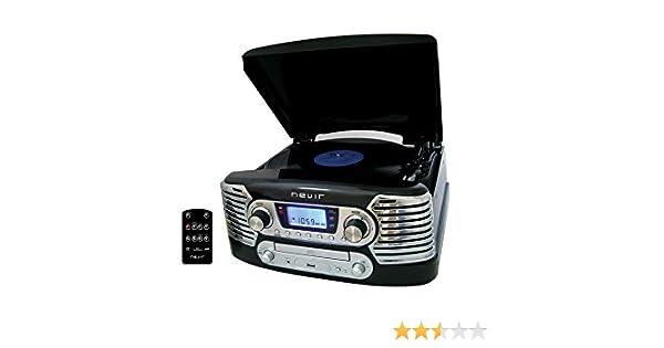Nevir NVR-801 VMUC NE - Tocadiscos (CD, USB) color negro: Amazon ...