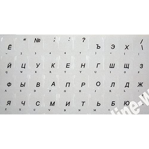 hot sale RUSSIAN KEYBOARD STICKERS WITH TRANSPARENT