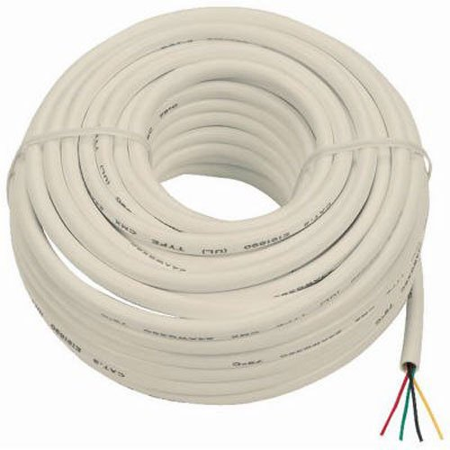 AUDIOVOX TP001R Almond Modular 4 Wire Cord , 100-Feet
