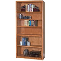 Martin Furniture Contemporary Oak Collection Six Shelf Bookcase, Medium Oak