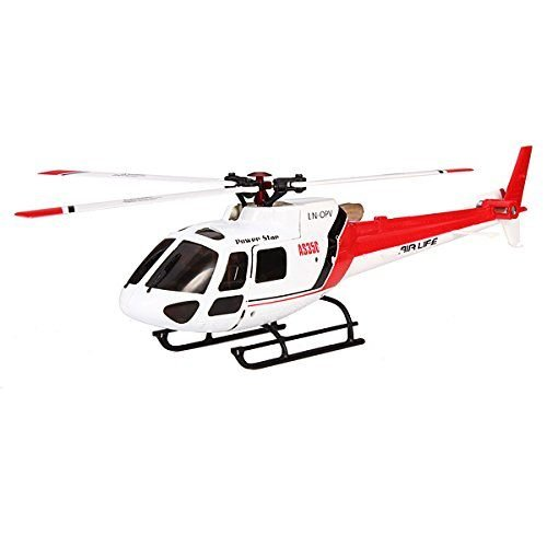 WLtoys V931 2.4G 6CH Brushless AS350 Scale Flybarless RC Helicopter Color :Red White