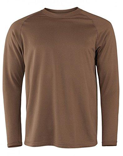 (Terramar Men's Military Fleece Long Sleeve Crew Hoodie, Military Brown, X-Large (46