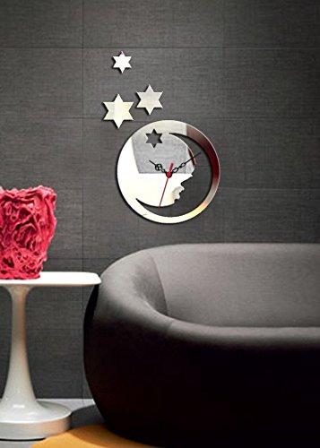 Stickers Stars Dazzle (Decorative Removable Wall Clock Mirror PLEXIGLASS (11.8