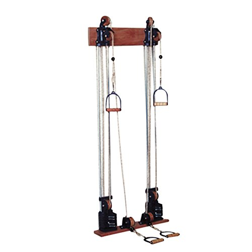 Chest Weight Pulley System - Dual handle (lower, mid) - two towers - 10 x 2.2-lb weights by Cando