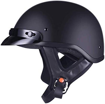 オートバイレトロポータブルハーフヘルメット男性と女性の電気自動車四季のユニバーサルヘルメットヘルメット (Color : Black, サイズ : XXL)