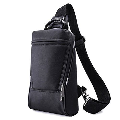2018 bolso de cabestrillo informal, paquete compacto, ligero de Oxford, pecho, cabestrillo, bolso de hombro, mochilas, bolso de crossbody impermeable pequeño para ciclismo, senderismo, senderismo, neg Negro