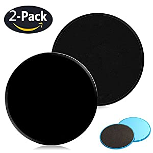 Gliding Discs Core Workout Exercise Sliders 2 Dual Sided Gliding Sliding Discs for Core Fitness, Ultimate Core Trainer, Gym, Carpet and Hardwood Floors Home Abdominal Exercise Equipment from Coobal