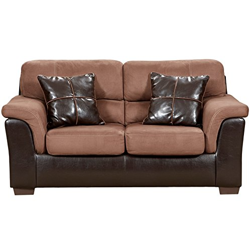 Flash Furniture Exceptional Designs Microfiber Loveseat, Laredo Chocolate