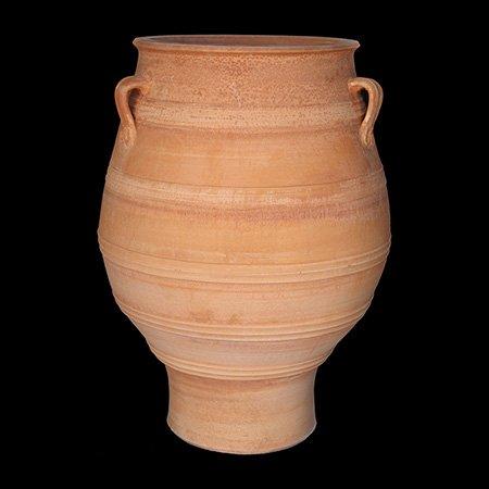 Traditionelle Cretan handgefertigte terracotta-Topf Minoisch design Pithari, mittelgroß, klein, 50 cm x 35 cm