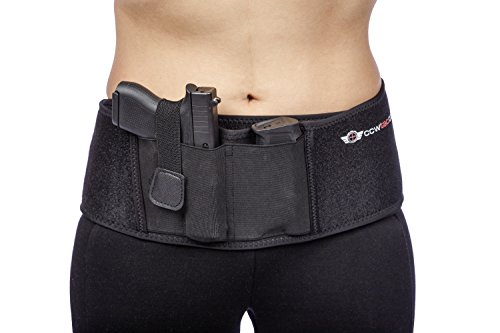 IWB Belly Band Holster by CCW Tactical - Concealed Carry Multiple Positions, Ultimate Comfort Handgun Holder with Spare Mag Pouch, FASTEST DRAW SPEED, Men and Women, All Size Pistols and Revolvers, L