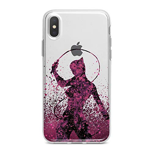 Lex Altern TPU Case for iPhone Apple Xs Max Xr 10 X 8+ 7 6s 6 SE 5s 5 Female Super Hero Flexible Pink Clear Smooth Colorful Slim fit Design Gift Cover Print Lady Cat Lightweight Universe Soft Woman]()