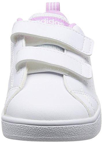 Adidas VS ADVANTAGE CLEAN CMF INF–Schuhe deportivaspara Kinder, Weiß–(Ftwbla/Ftwbla/orqcla),-25