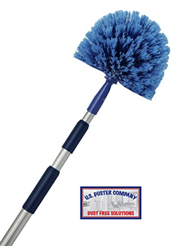 (Extension Rod & Cobweb Duster, Extend 18-20 feet, Cleaning High Ceilings, Cathedral Ceilings, Ceiling Fans, Book Shelve, Curtain Rods, Pest Control Duster, U.S Duster Co.)