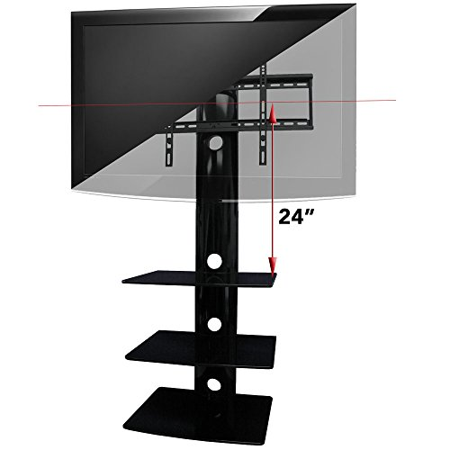 aeon stands and mounts swiveling tv wall mount with three shelves black buy online in uae. Black Bedroom Furniture Sets. Home Design Ideas