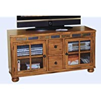 Sunny Designs Sedona 52 TV Stand in Rustic Oak