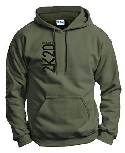 ThisWear College Grad 2020 Gifts Graduation Outfit 2020 Graduation Gifts Class of 2K20 Graduation Hoodie Sweatshirt Large MlGrn Military Green (Best Cs Grad Schools)