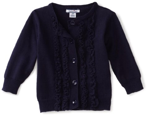 Hartstrings Baby Girls' Ruffled Front Cardigan Sweater
