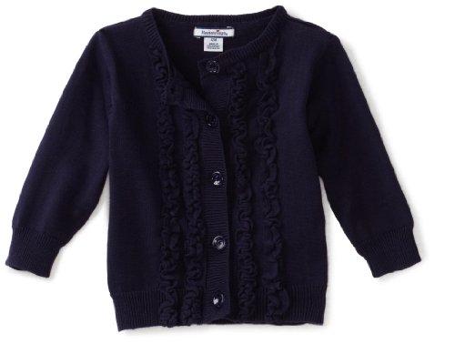 Hartstrings Baby Girls' Ruffled Front Cardigan Sweater