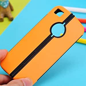 Fashion Fold Kickstand Hard Back Case Cover For iPhone 4 4S --- Color:Blue