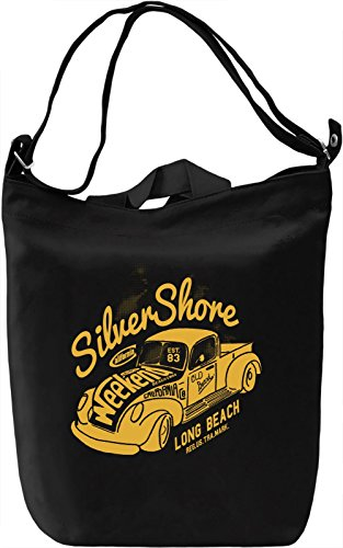 Silver shore Borsa Giornaliera Canvas Canvas Day Bag| 100% Premium Cotton Canvas| DTG Printing|