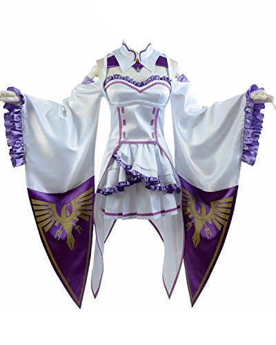 Ya-cos Re Life In a Different World From Zero Emilia Outfit Gown Dress Cosplay Costume