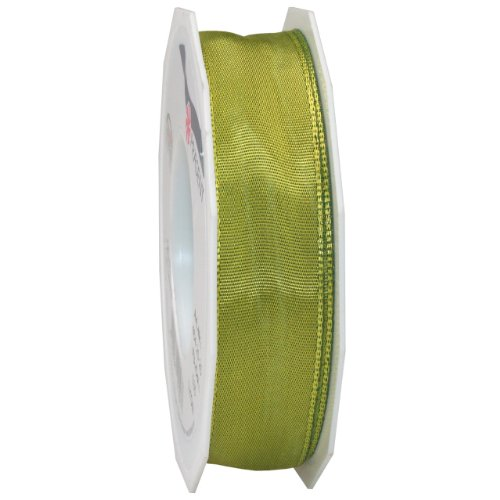 - Morex Ribbon French Wired Lyon Ribbon, 1-Inch by 27-Yard Spool, Olive Green