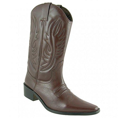 Gringos Men's KANSAS Western Cowboy Boots 7 UK Brown dh2ngpQlT