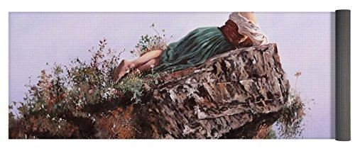 Pixels Yoga Mat w/ Bag ''La Bimba Sulla Scoglio'' by Pixels