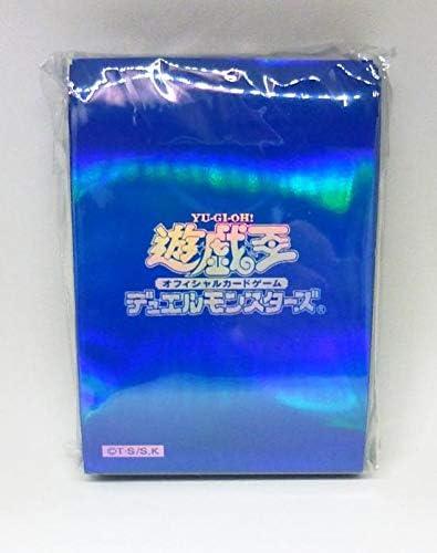 遊戯王 初期ロゴ スリーブ 水色 青 ブルー