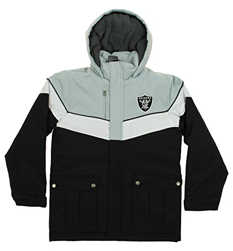 Raiders Oakland Fleece Polar (Outerstuff NFL Youth Boys All American Heavy Weight Parka Jacket-Black-M(10-12), Oakland Raiders)