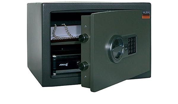 Valberg Caja de seguridad de depósito - resistente a la apertura de la fuerza - 3 lateral de bloqueo - bisagras ocultas - antipicazón - hogar y oficina ...